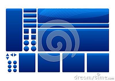 Blue Template Elements