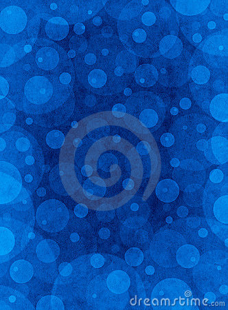 Blue Textured Circles