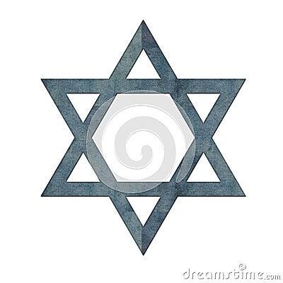 Blue Textured Star of David