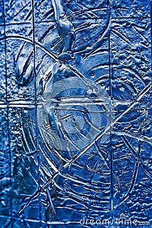 Blue Textured Steel Background