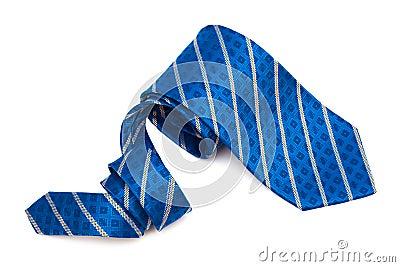 Blue tie close up