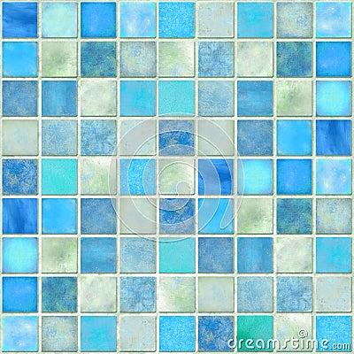 Free Blue Tile Mosaic Royalty Free Stock Photos - 18342098