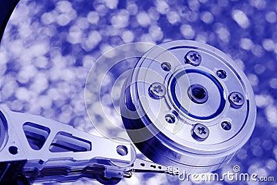 Blue tint macro hard disk drive