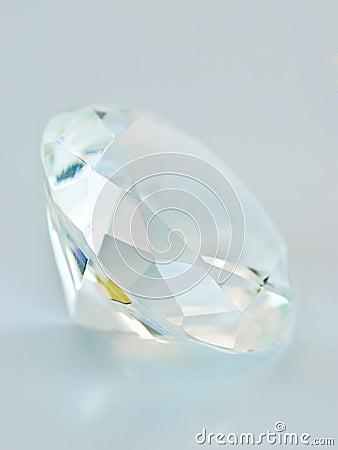 Blue tinted round gemstone