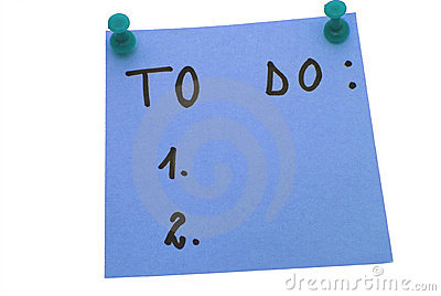 Blue To do list