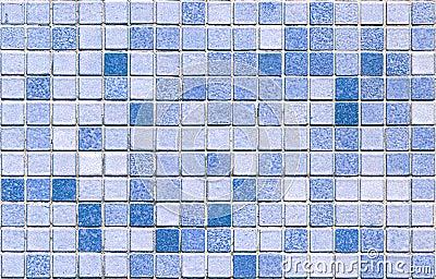 Blue tone mosaic tiles seamless