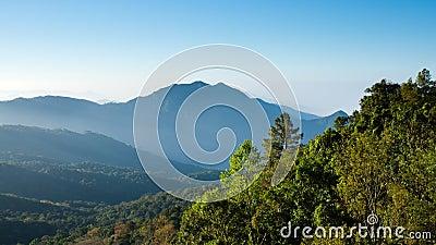 Blue tone Mountain landscape