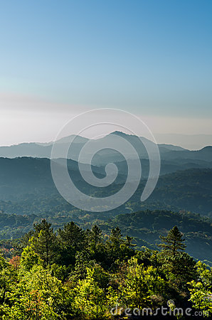 Blue tone Mountain vertical