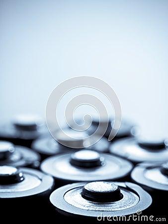 Blue toned batteries