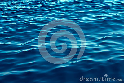 Blue Tones Water Waves Background