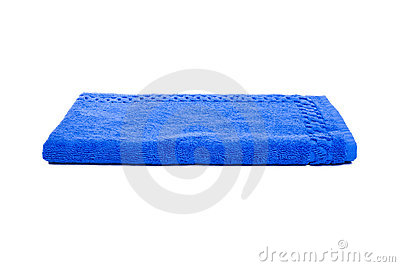 Blue towel Editorial Stock Photo