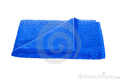 Blue towel Editorial Photography