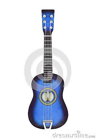 Free Blue Toy Ukulele Size Guitar Isolated Royalty Free Stock Images - 25806279
