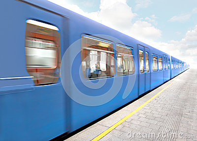 Blue Train Royalty Free Stock Images - Image: 25908429