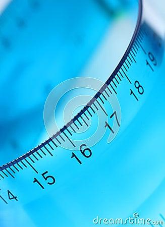 Blue Transparent Ruler