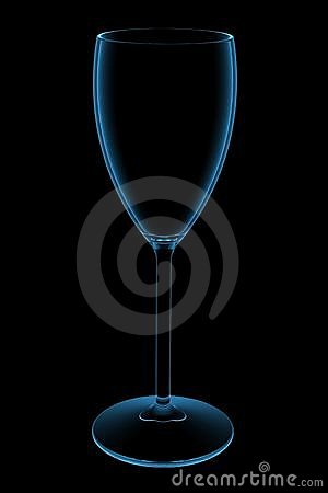 Free Blue Transparent Wine Glass 3D X-Ray Royalty Free Stock Photo - 14432145