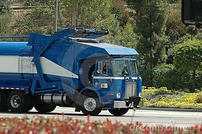 Blue Trash Truck