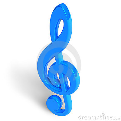 Blue treble clef