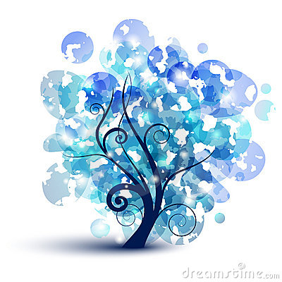 Free Blue Tree Royalty Free Stock Photo - 20121075