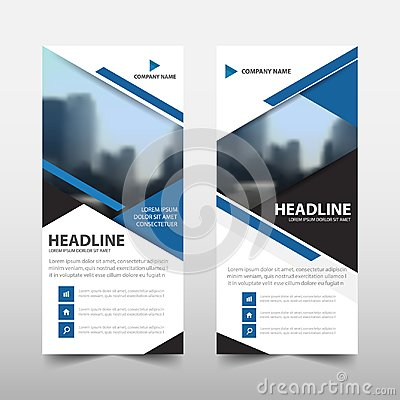 Free Blue Triangle Roll Up Business Brochure Flyer Banner Design , Cover Presentation Abstract Geometric Background, Modern Publication Royalty Free Stock Photo - 103512545