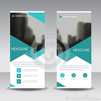 Free Blue Triangle Roll Up Business Brochure Flyer Banner Design , Cover Presentation Abstract Geometric Background, Modern Publication Stock Photography - 88834192