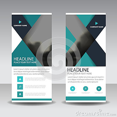 Free Blue Triangle Roll Up Business Brochure Flyer Banner Design , Cover Presentation Abstract Geometric Background, Modern Publication Royalty Free Stock Photos - 88834218