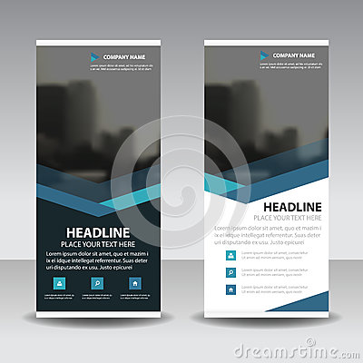 Free Blue Triangle Roll Up Business Brochure Flyer Banner Design , Cover Presentation Abstract Geometric Background, Modern Publication Royalty Free Stock Image - 93954146