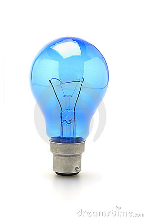 Blue tungsten light bulb