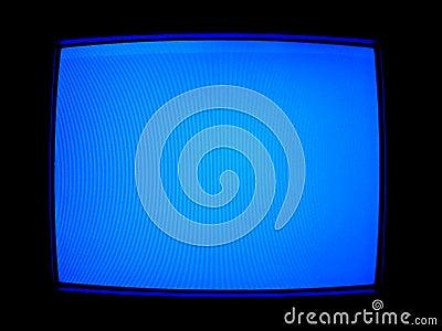 Blue TV Screen