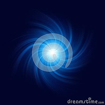 Blue Twirl Background. EPS 10