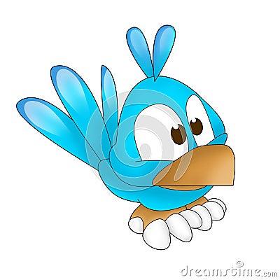 Blue twitter bird funny