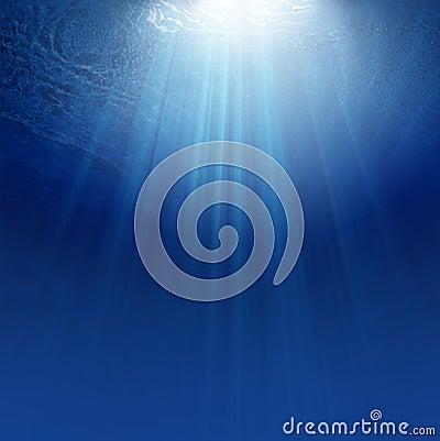 Blue Underwater background