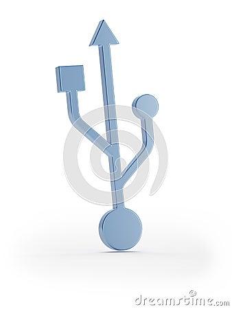Blue usb symbol