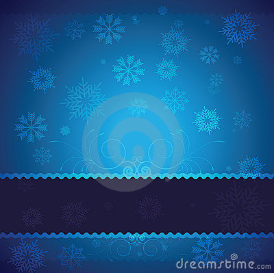 Free Blue Vector Christmas Background Stock Photography - 21538522