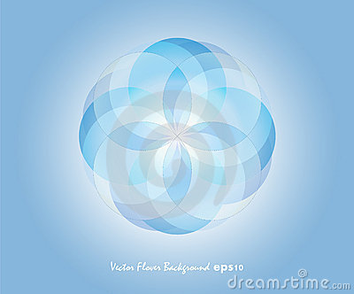 Blue Vector Flover Background