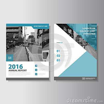 Free Blue Vector Magazine Annual Report Leaflet Brochure Flyer Template Design, Book Cover Layout Design Royalty Free Stock Photography - 67630617