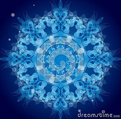 Blue vector ornament