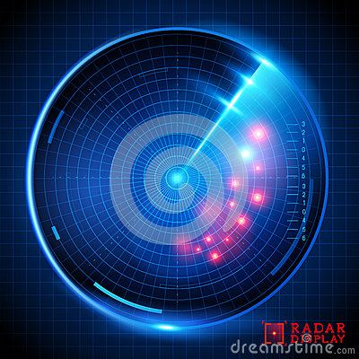 Free Blue Vector Radar Display Royalty Free Stock Photography - 38996767