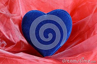 Blue velvet heart