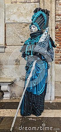 Blue Venetian Disguise Editorial Photo