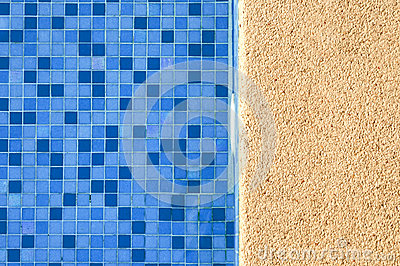 Blue and vibrant swimming pool