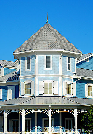 Blue Victorian Home