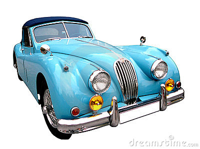 Blue vintage auto#2