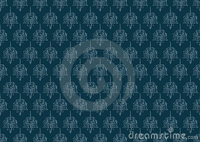 Blue vintage background pattern