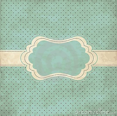 Free Blue Vintage Frame Royalty Free Stock Images - 17740639