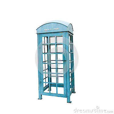 Free Blue Vintage Telephone Booth Royalty Free Stock Photo - 40246335