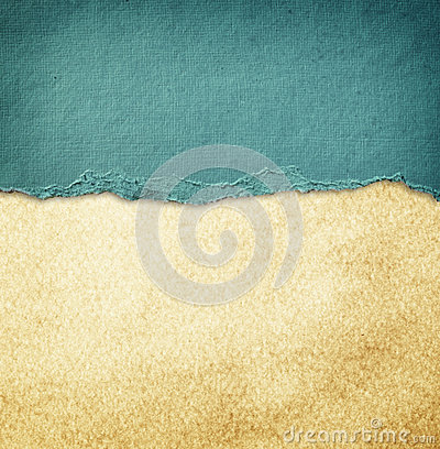 Free Blue Vintage Torn Paper Over Grunge Paper Texture. Royalty Free Stock Image - 35857876