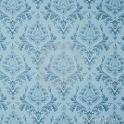 Free Blue Vintage Wallpaper Royalty Free Stock Photo - 3072745