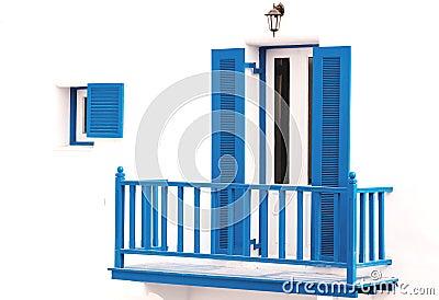 Blue vintage windows