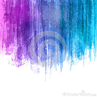 Blue Violet Paint Splashes Gradient Background. Vector eps 10 design illustration with place for your text and logo Cartoon Illustration